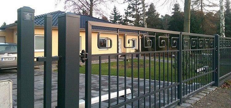 Ворота из металлической профильной трубы
