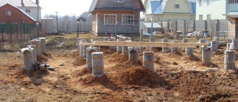 Фундамент на сваях для частного дома своими руками