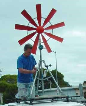 Установка ветряка на крыше своими руками