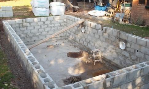 стены для бассейна своими руками из блоков