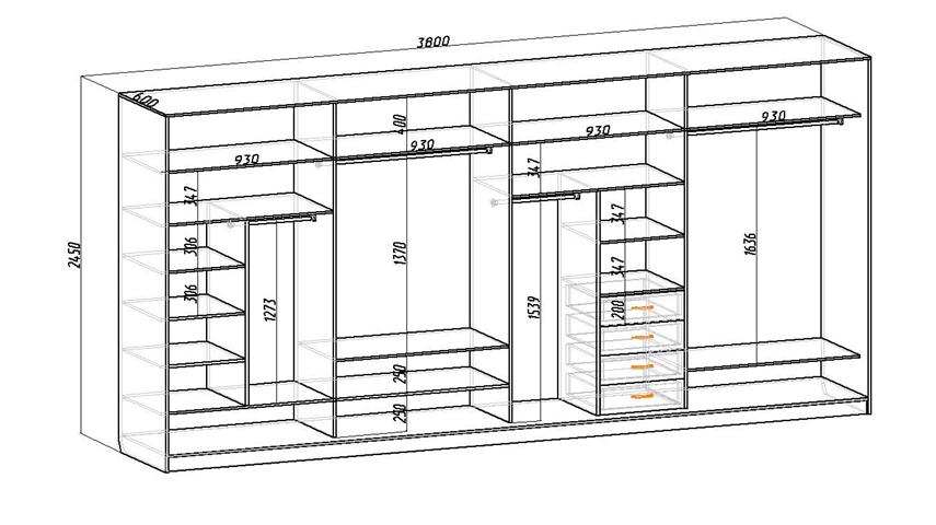 Пример большого шкафа
