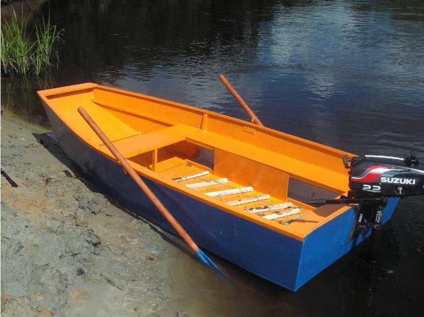Покрытие лодки двумя цветами