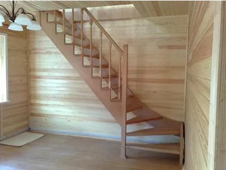 Лестница с поворотными ступенями
