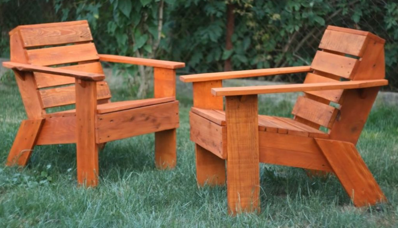 Кресло из паллет