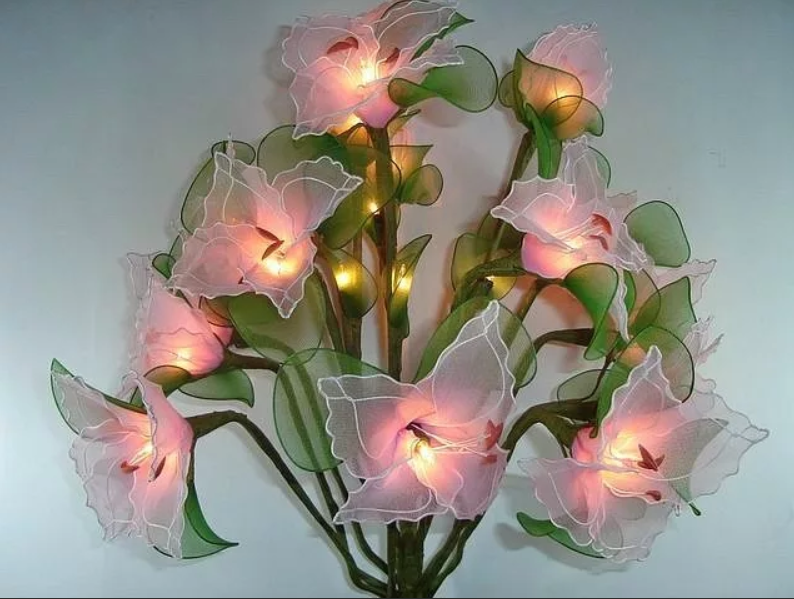 Цветы с подсветкой