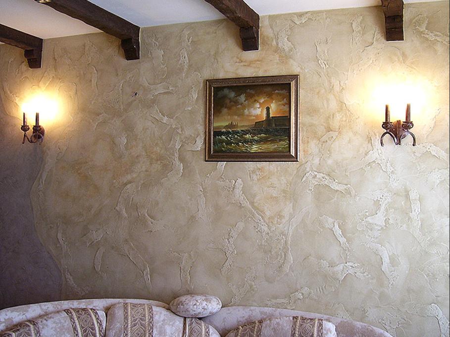 Стены с эфектом мокрого шелка