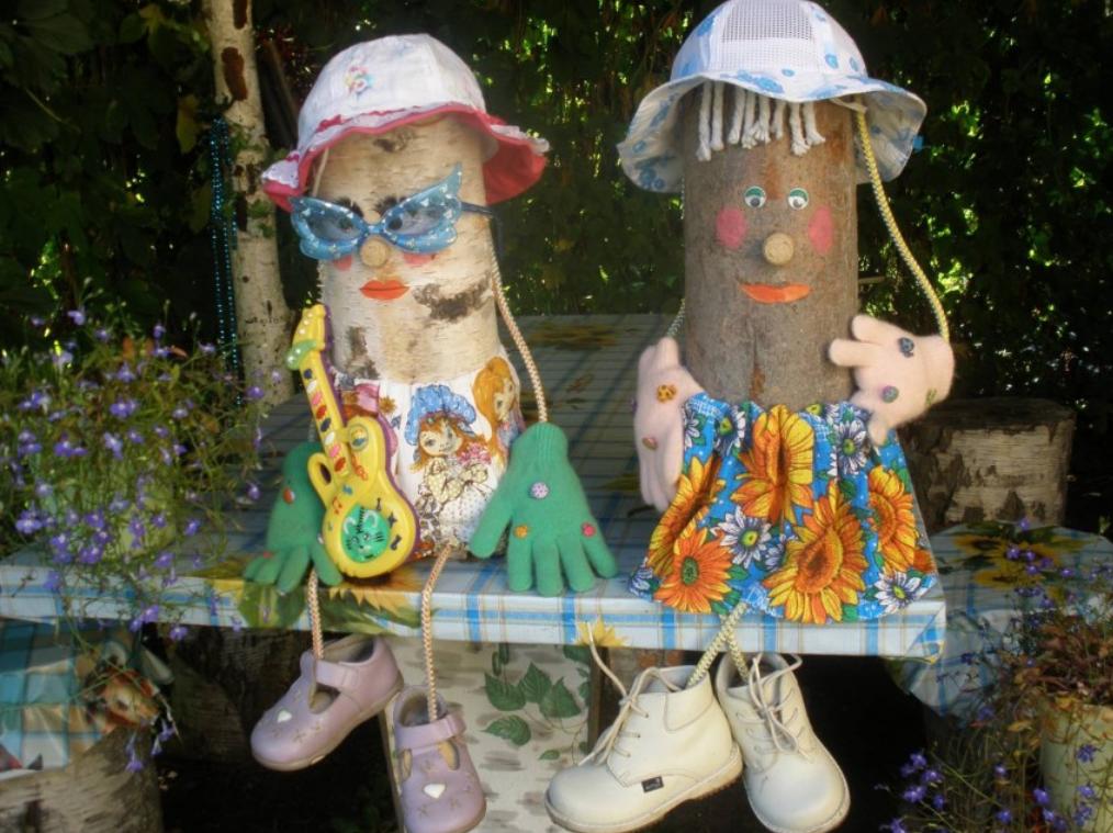 Деревянные фигурки для декора