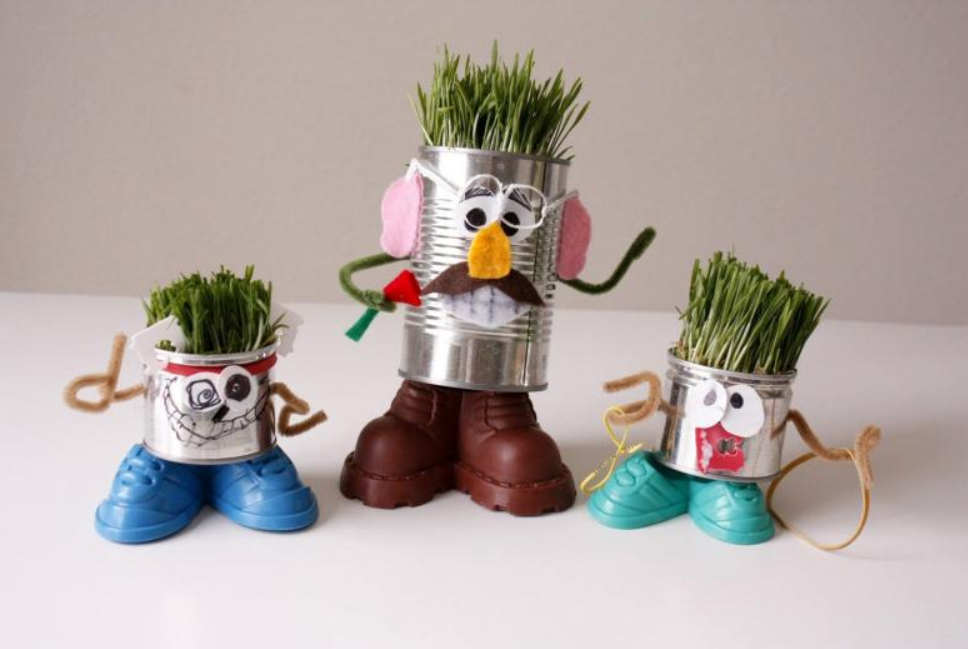 Баночки для выращивания травы
