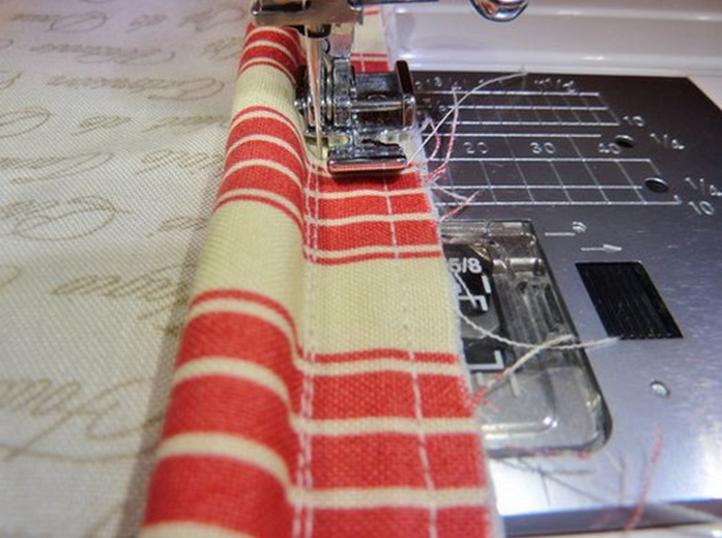 Пришивание канта