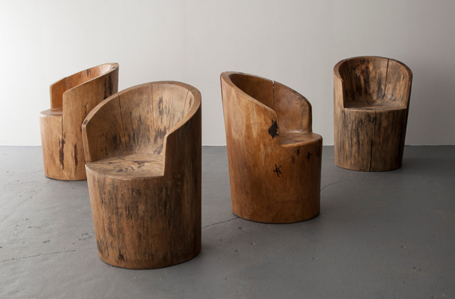 Стулья-кресла из бревен