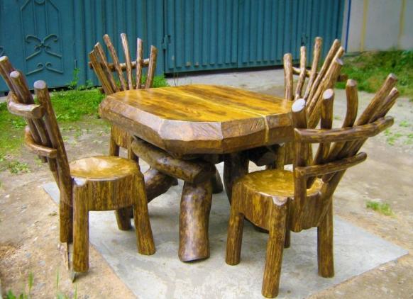 Мебель из брусьев