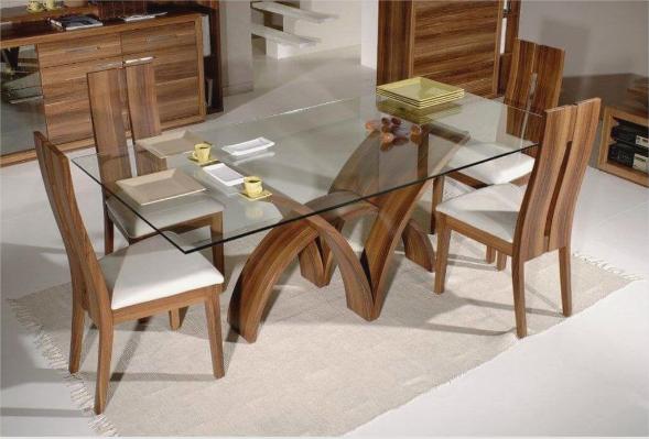 Комбинация древесины и стекла