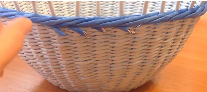 Плетение другим цветом