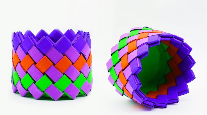 Корзина оригами