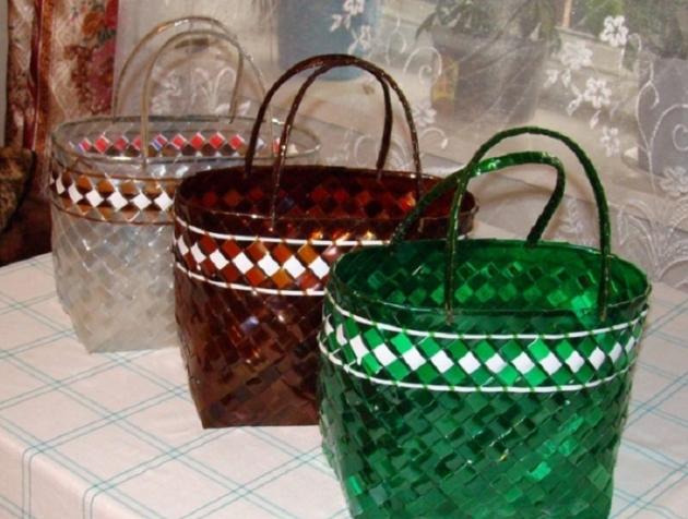 Корзинки из пластика