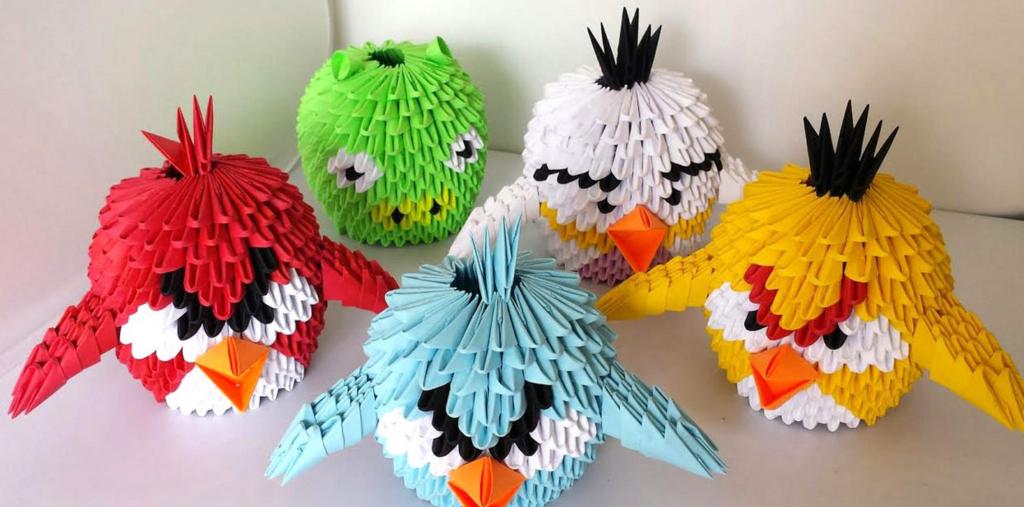 Птички в стиле оригами