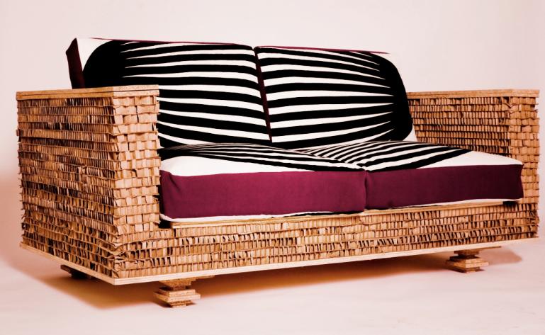 картонная модель дивана