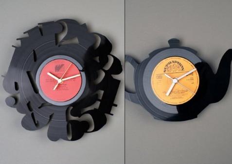 Часы из пластинок