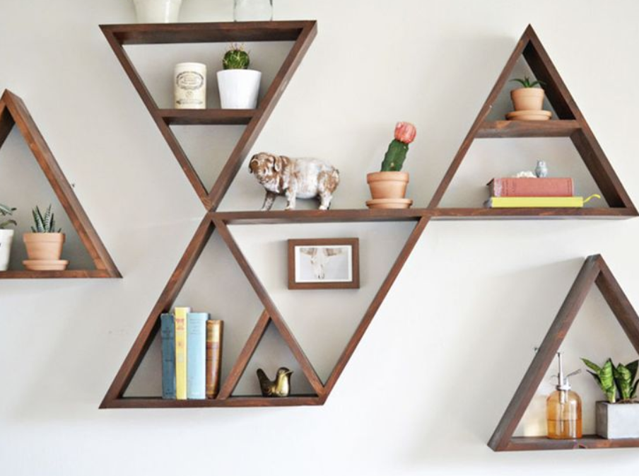 В форме треугольников