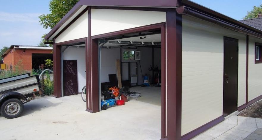 Двойной гараж из сип панелей