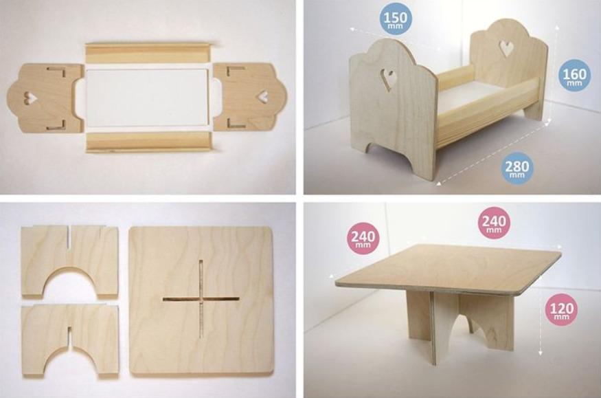 Кроватка и столик
