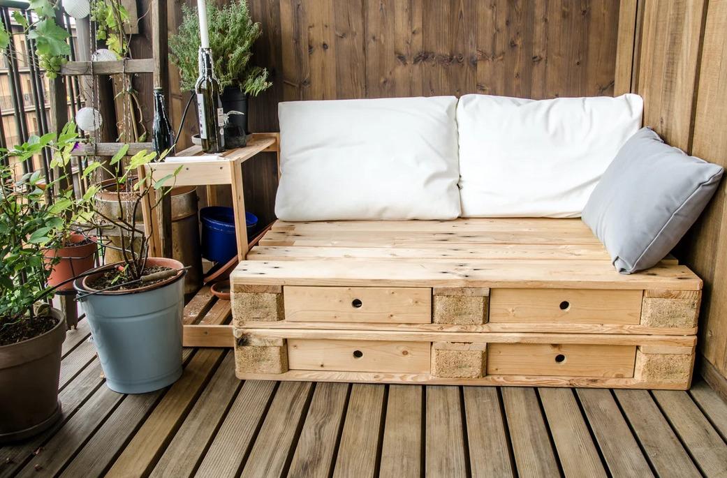 Мини-диван с ящиками