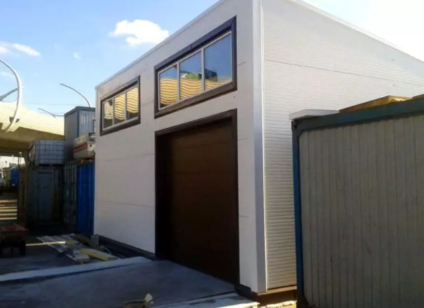 Высокий гараж из сип панелей