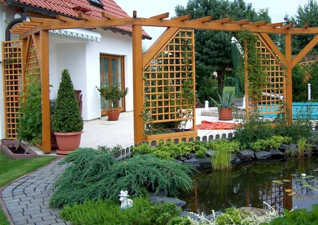 Оформление дизайна двора