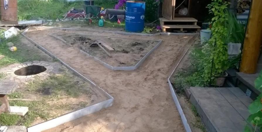 Подготовка к оформлению дорожки