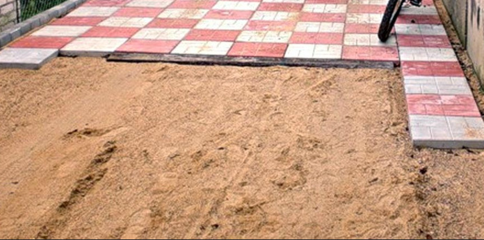 Укладка плитки на песок