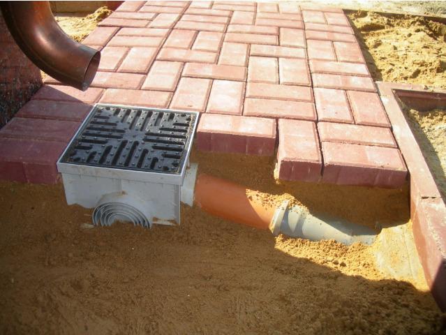 Этап укладки плитки