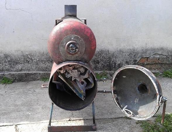 Двойная печь с дровами