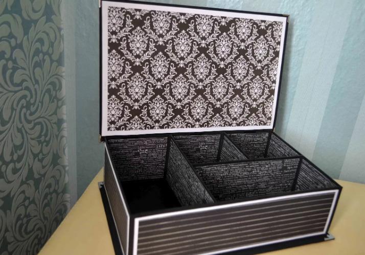 Шкатулка из обувной коробки