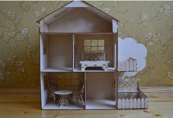 Обставленный домик