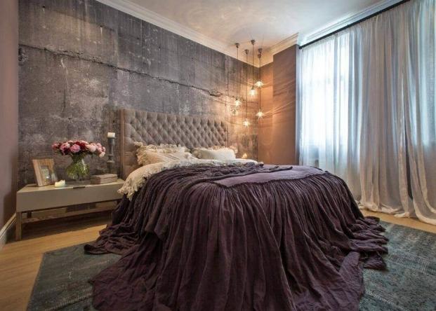 Интересный интерьер спальни