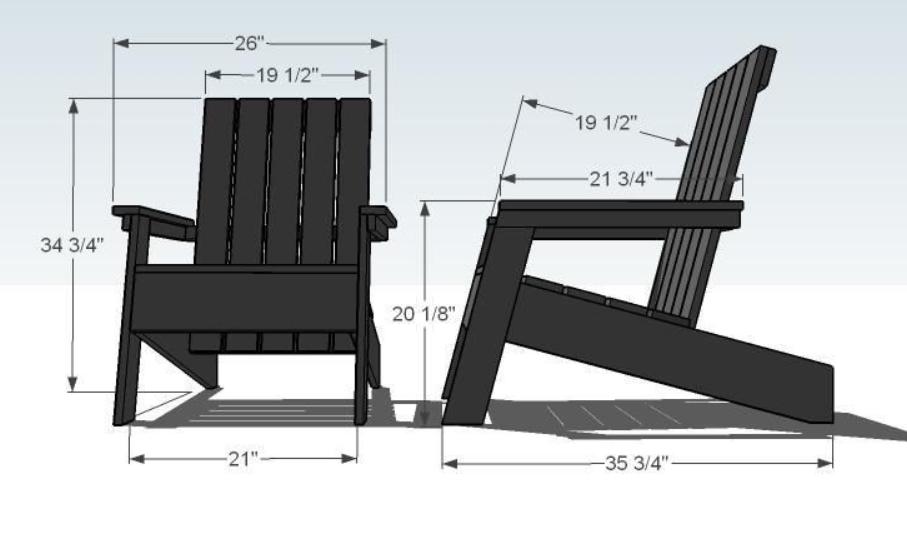 Второй вариант кресла