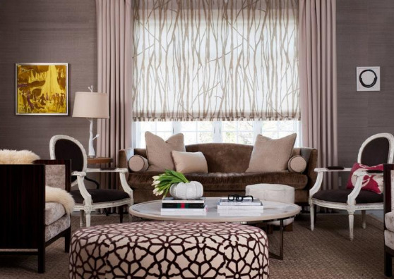 Рулонные шторы в стиле классика