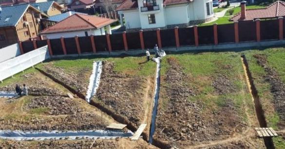 Диагональный отвод воды