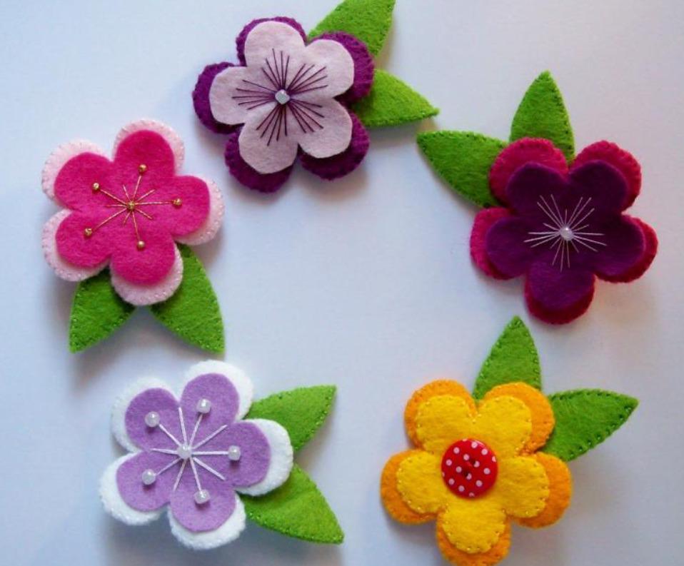 Цветочки для украшений