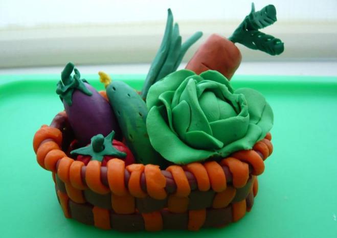 Пластилиновые овощи